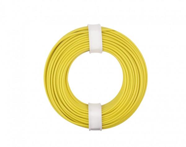 125-013 - Kupferschalt Litze 0,25 mm² / 10 m / gelb