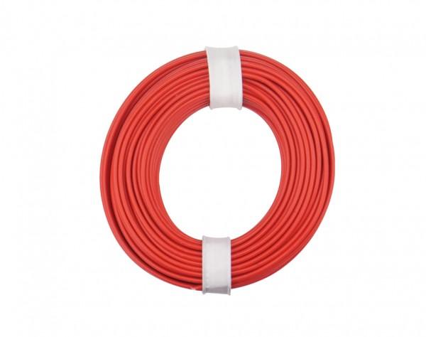 125-010 - Kupferschalt Litze 0,25 mm² / 10 m / rot