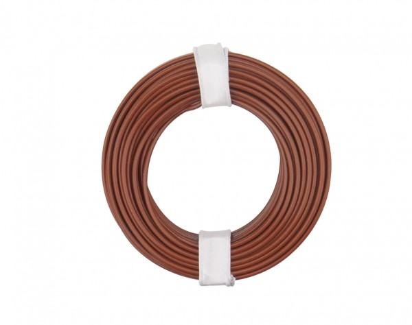 125-018 - Kupferschalt Litze 0,25 mm² / 10 m / braun