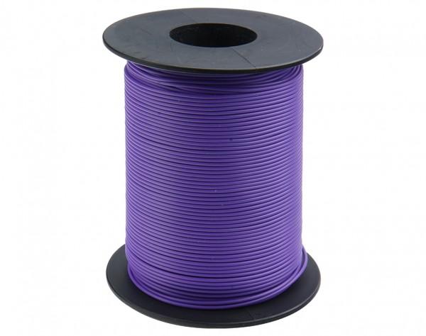 119-16 - Kupferschalt Litze violett - 100 m Spule
