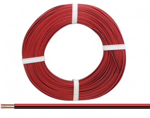 218-50 - Zwillingslitze 0,14 mm² / 50 m rot-schwarz