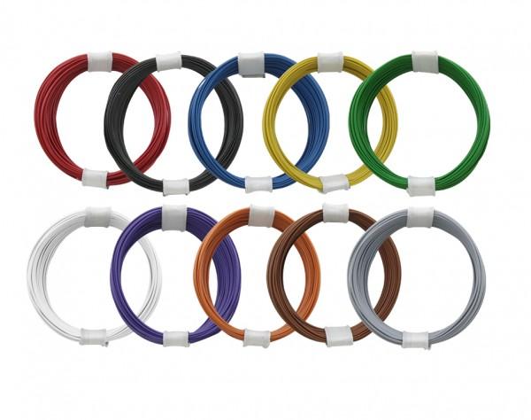 110-MIX - Kupferlitzen-Set (0,04 mm²) 10 x 10 m - 10 farbig