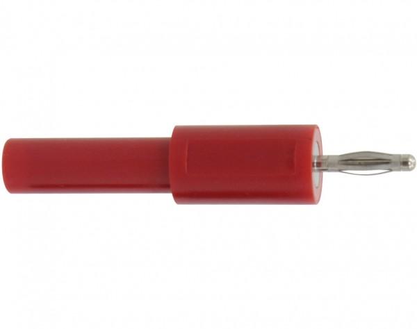 200 - Adapter Stecker 2 mm - Buchse 4 mm rot