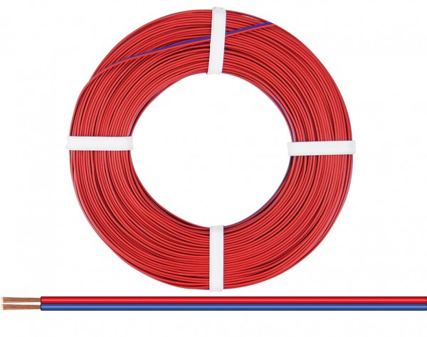 225-020 - Zwillingslitze 0,25 mm² / 50 m rot-blau