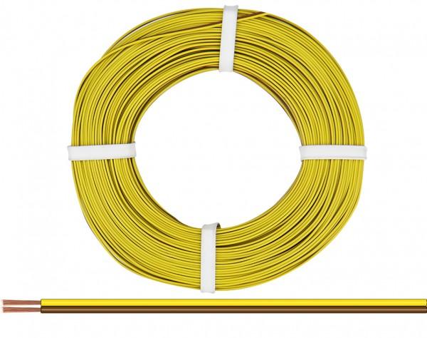 218-38-25 - Zwillingslitze 0,14 mm² / 25 m gelb-braun