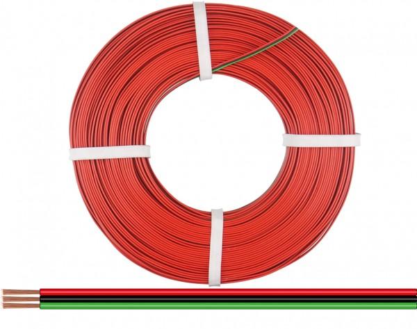 318-014-50 - Drillingslitze 0,14 mm² / 50 m rot-schwarz-grün