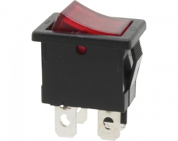 KWS40 - Ausschalter, 2-polig, schwarz, rot beleuchted, ON-OFF