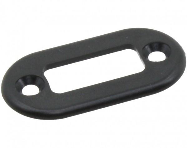 NE11 - Blende für Hochstrom Stecker + Buchse schwarz