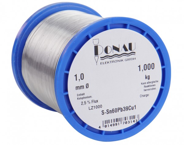 LZ1000 - Lötzinn Ø 1 mm, Spule 1000 g