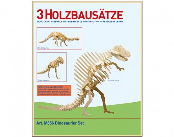 M856 - Holzbausatz 3 x Dinosaurier