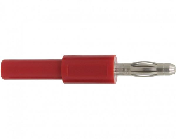 1030 - Adapter Stecker 4 mm - Buchse 2 mm rot