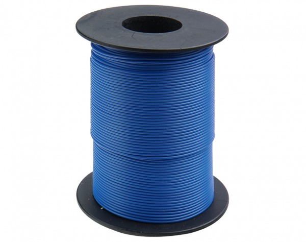 105-2-100 - Kupferschalt Draht 0,5 mm / 100 m blau