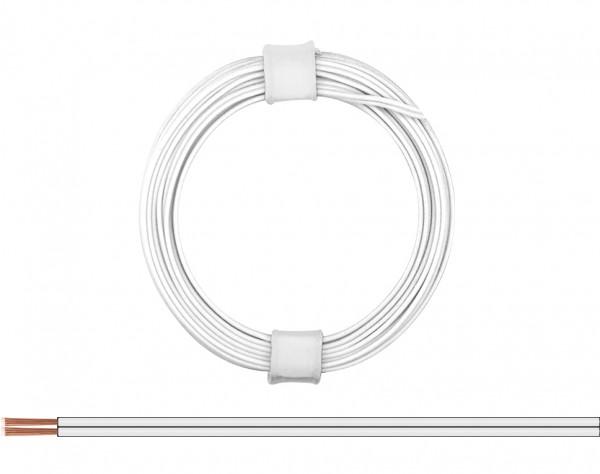 114-55 - Zwillingslitze 0,08 mm² / 5 m weiß-weiß