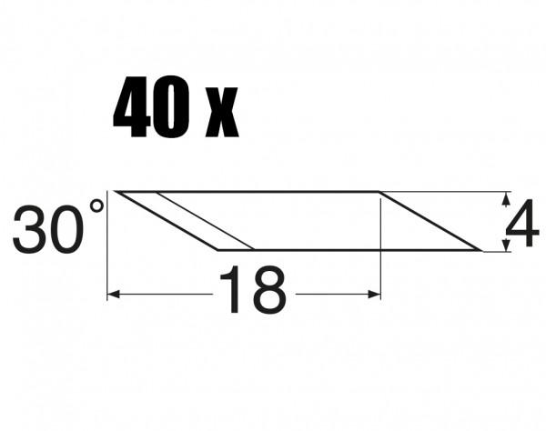 MS46 - Ersatzklingen 30° abgewinkelt - 40 St.
