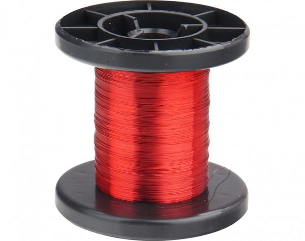LD15-0 - Kupfer Lackdraht Ø 0,15 mm rot