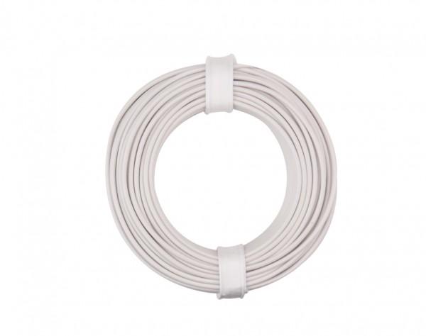 125-015 - Kupferschalt Litze 0,25 mm² / 10 m / weiss