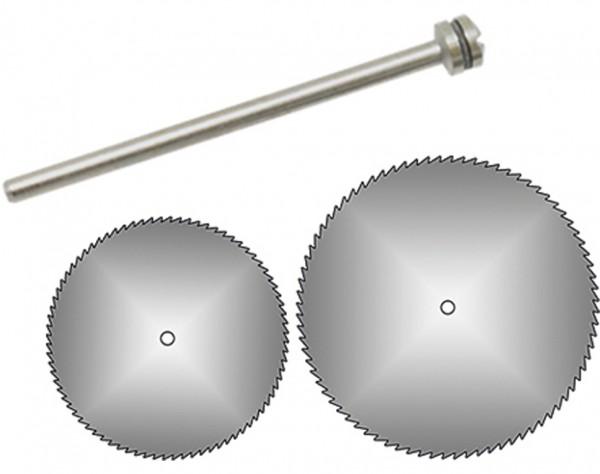 1641 - 2 Kreissägeblätter Ø 16 + 22 mm + Dorn