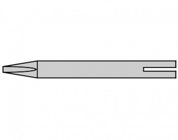 B8-162 - 2 mm Lötspitze - Meißelform