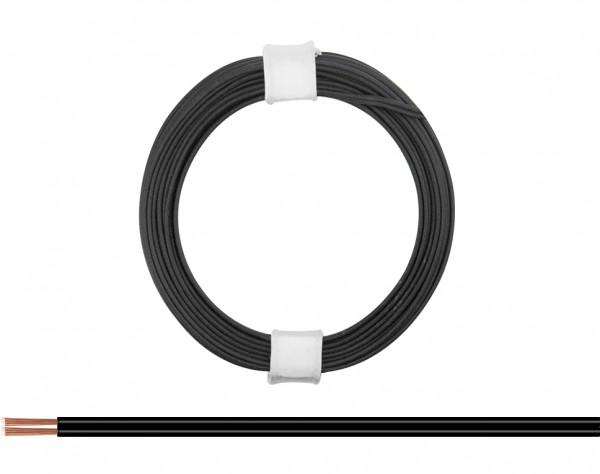 114-11 - Zwillingslitze 0,08 mm² / 5 m schwarz-schwarz