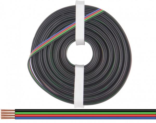 419-100 - Vierlingslitze 0,25 mm² / 100 m für RGB LED Streifen