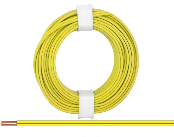218-33 - Zwillingslitze 0,14 mm² / 5 m gelb-gelb