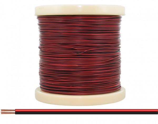 218-500 - Zwillingslitze 0,14 mm² / 500 m rot-schwarz