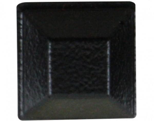 E20 - Gerätefüße schwarz, quadratisch, 20 mm