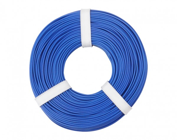 125-052 - Kupferschalt Litze 0,25 mm² / 50 m / blau