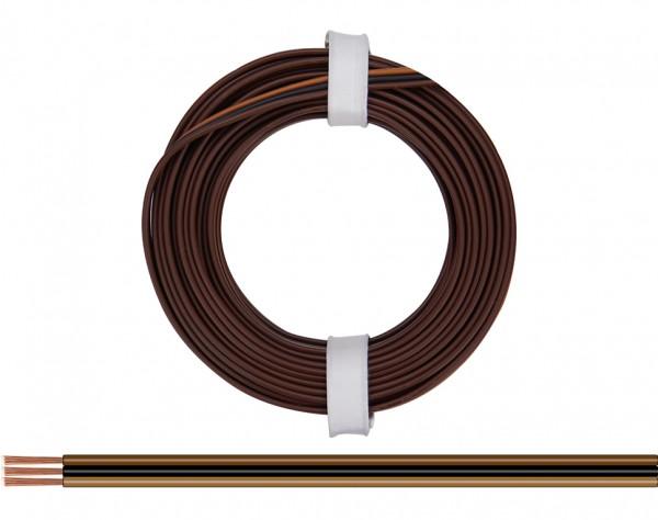 318-818 - Drillingslitze 0,14 mm² / 5 m dunkelbraun - schwarz - hellbraun