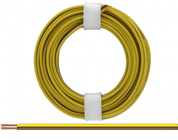 218-38 - Zwillingslitze 0,14 mm² / 5 m gelb-braun