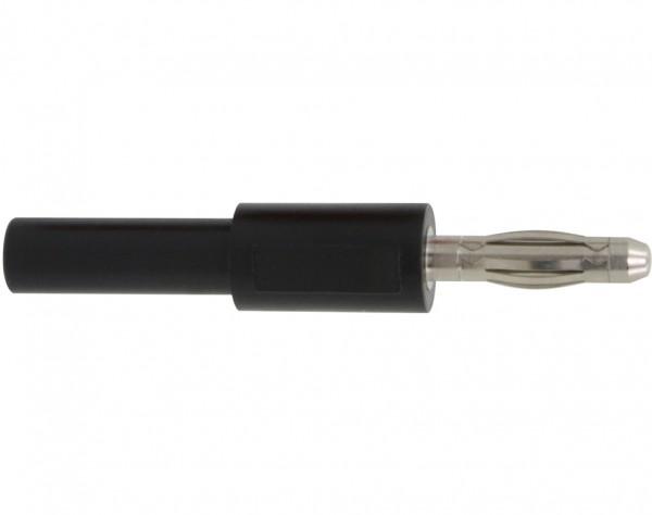 1031 - Adapter Stecker 4 mm - Buchse 2 mm schwarz