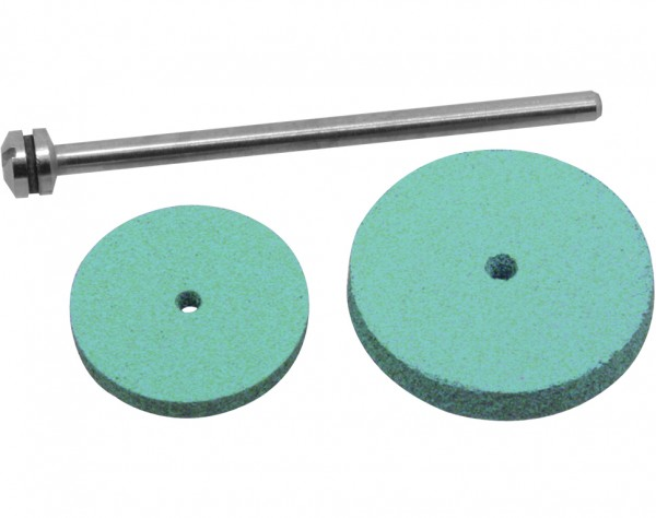 1606 - 2 Silikon Polierscheiben Ø 17+22 mm + Dorn