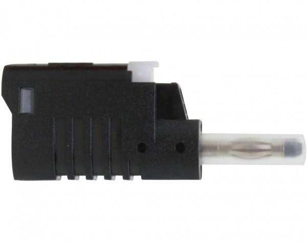 1081 - Sicherheits Laborstecker 4mm schwarz