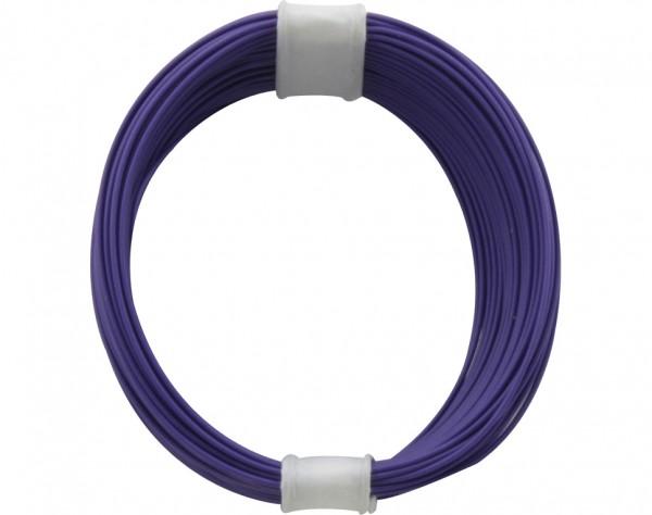 110-6 - Kupferschalt Litze 0,04 mm² / 10 m violett