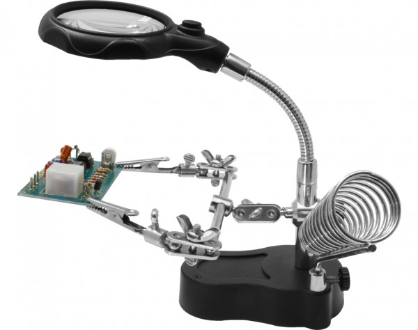 HH3 - Helping Hand mit LED-Licht + Lupe