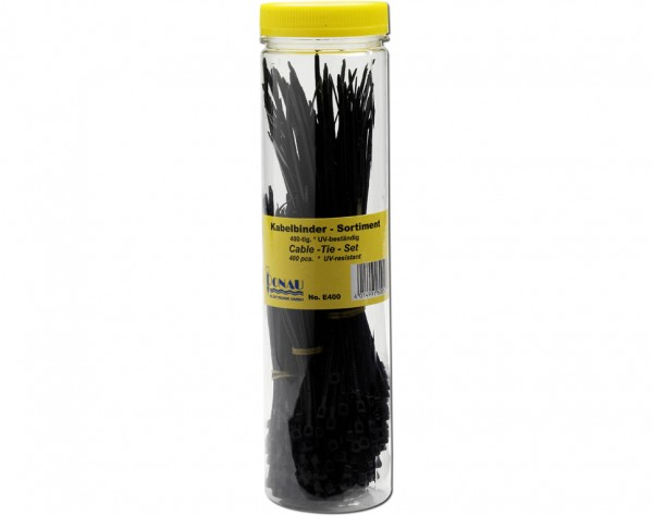 E400 - Kabelbinder Sortiment 400-tlg. schwarz