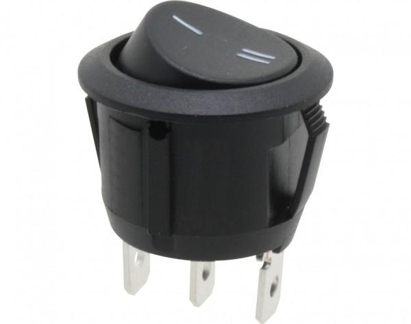 KWS320 - Umschalter, 1-polig, schwarz, rund, ON-ON