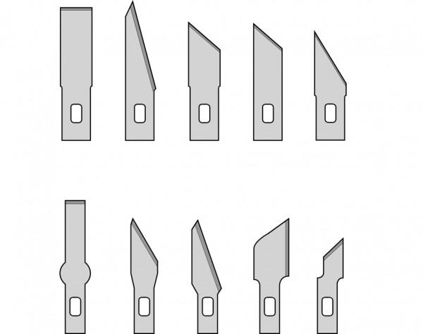MS10 - 10 Ersatzklingen für Designermesser