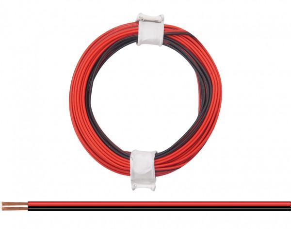 114-01 - Zwillingslitze 0,08 mm² / 5 m rot-schwarz