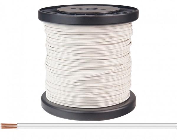 218-55-100 - Zwillingslitze 0,14 mm² / 100 m weiß-weiß