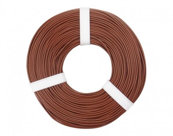 125-058 - Kupferschalt Litze 0,25 mm² / 50 m / braun