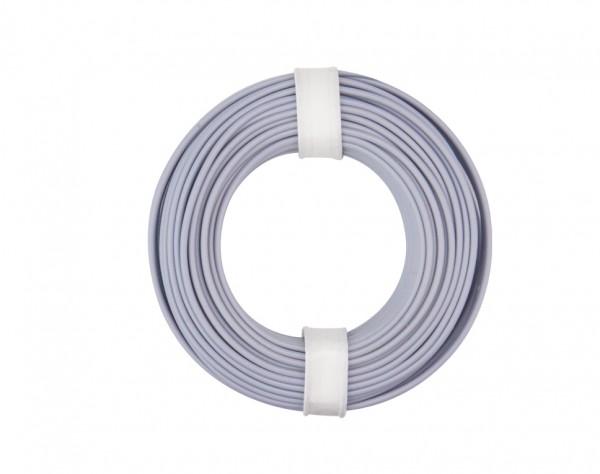 125-019 - Kupferschalt Litze 0,25 mm² / 10 m / grau