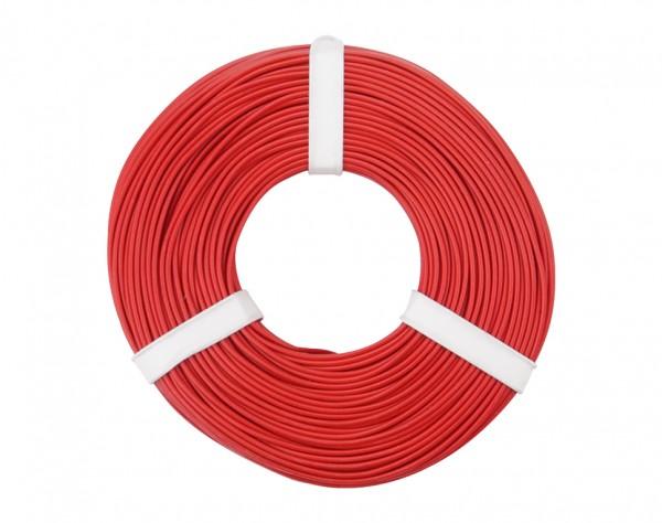 125-050 - Kupferschalt Litze 0,25 mm² / 50 m / rot