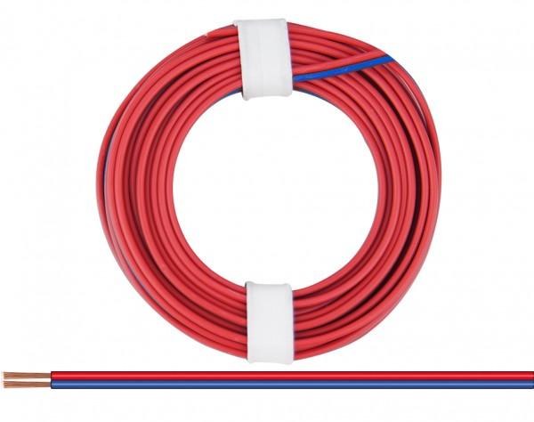 225-02 - Zwillingslitze 0,25 mm² / 5 m rot-blau