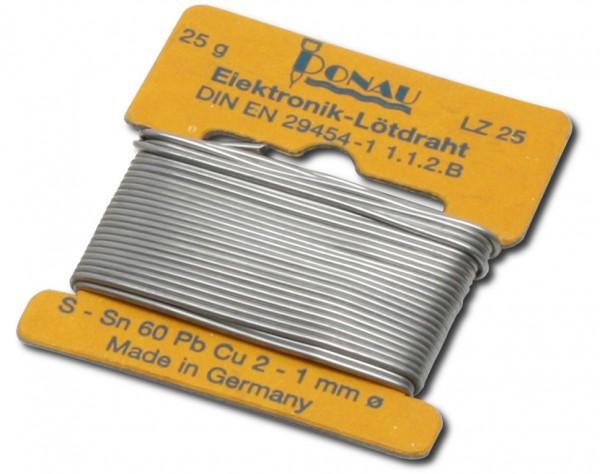 LZ25 - Lötzinn Ø 1 mm, Wickel 5 m - 25 g