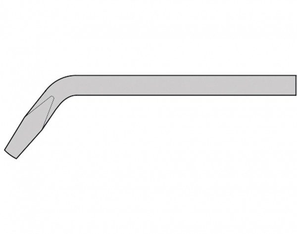 GS863 - 7 mm Lötspitze - Meißelform gewinkelt