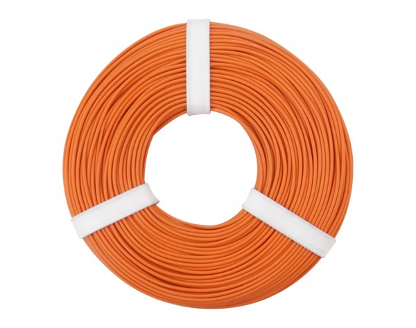 125-057 - Kupferschalt Litze 0,25 mm² / 50 m / orange