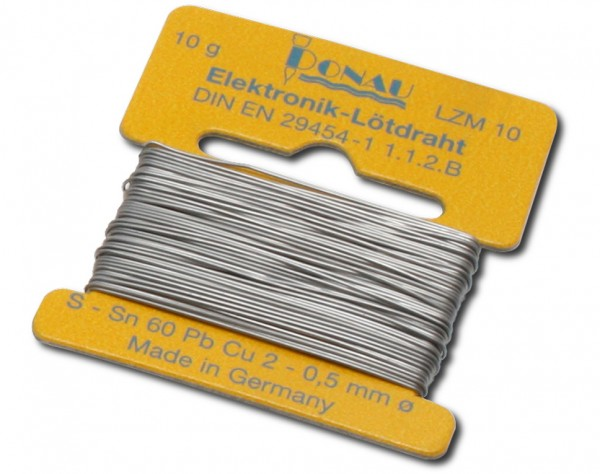 LZM10 - Lötzinn Ø 0,5 mm Wickel 10 g