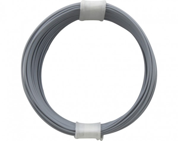 110-9 - Kupferschalt Litze 0,04 mm² / 10 m grau