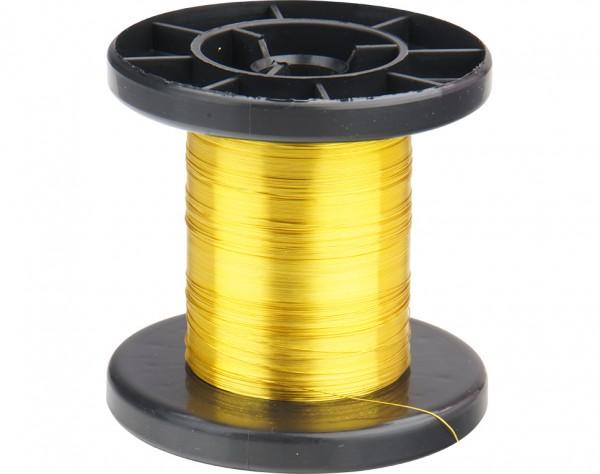 LD15-3 - Kupfer Lackdraht Ø 0,15 mm gelb
